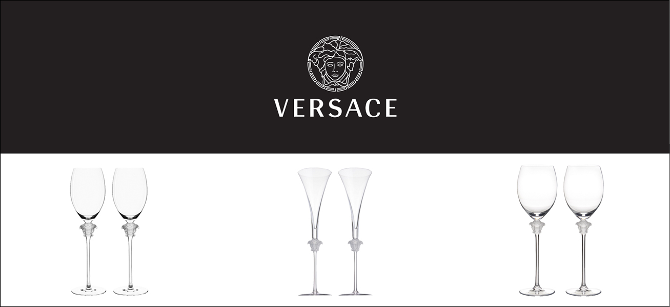 Glassware by Versace
