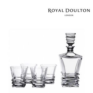 Picture of Royal Doulton Crystal Prism Decanter Set: Decanter & 4 Tumblers