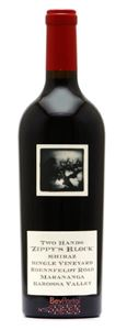Picture of Two Hands-Zippy's Block-Shiraz-2008-750mL