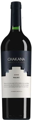 Picture of Chakana Nuna Estate   Organic Malbec 2017 750mL