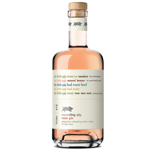 Picture of Squealing Pig-Rose-Gin-NV-700mL