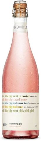 Picture of Squealing Pig-Sparkling Rose-Pinot Noir Chardonnay-NV-750mL
